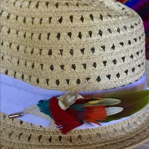 OOAK Crystal & Exotic Feather stick pin, hat/lapel